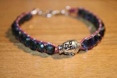 Buddha bead and czech glass bracelet £10.00