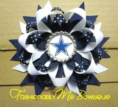 PICK YOUR TEAM Dallas Cowboys Boutique by FashionablyMeBows, $6.75