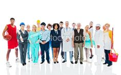 Large Group of Various Occupations people. Royalty Free Stock Photo