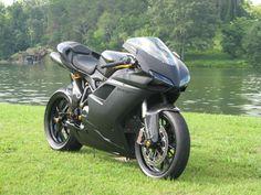 Black Stealth - 2012 Ducati 848 EVO Custom - Front Right