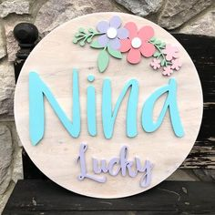 Wooden Name Signs, Wooden Names, Name Decorations, Words On Wood, Sunflower Colors, Log Home Interiors, Anne With An E, Banners, Bird On Branch