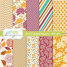 Digital Scrapbook Papers - Digital Paper Pack - Backgrounds - DP131