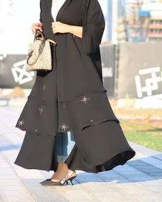 #Repost @j_binjamhoor with @instatoolsapp  Black @swan_abaya1 #abayas #l4l #intm and Abaya Designs, Blouse Designs, Modern Abaya, Black Abaya, Arabic Dress, Hijab Chic, Vintage Couture, Abaya Fashion, Mode Hijab