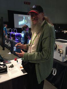 https://flic.kr/p/x7Qcia | SIGGRAPH 2015 | Jim Blinn with 3D printed teapot.