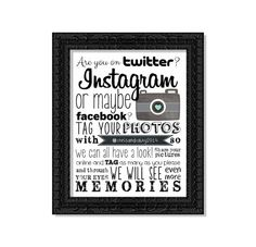 Instagram Hashtag Wedding Decor Personalized Reception Guest Table Art Quotes Print - Social Media Facebook Twitter Instagram - Hashtag Sign on Etsy, $3.85