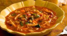 Need an easy veggie soup recipe? Add the bold flavor of Zatarain's Chicken Creole Rice Mix into the pot and use any fresh or frozen vegetables you have on hand to prepare this quick and easy soup. Easy Veggie Soup, Veggie Soup Recipes, Vegetable Soup With Chicken, Quick And Easy Soup, Chicken And Vegetables, Chicken Recipes, Chicken Soup, Veggies, Winter Vegetables