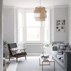 My living room makeover – painted white floors and light grey walls