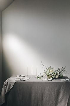 simple modern wedding table setting