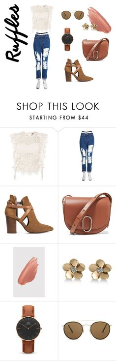 """""""LUVIN' RUFFLES"""" by acoolet ❤ liked on Polyvore featuring Nightcap, Boohoo, H London, 3.1 Phillip Lim, MDMflow, Allurez, Daniel Wellington and Ray-Ban"""