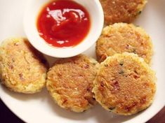 rice cutlet recipe, how to make rice cutlet from leftover cooked rice Boiled Rice Recipes, Leftover Rice Recipes, Leftovers Recipes, Veg Recipes, Indian Food Recipes, Baking Recipes, Yummy Recipes, Cutlets Recipes