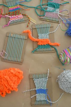 diy weaving craft project for kids - yarn crafts