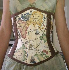 Steampunk/Victorian underbust corset Ready to by KayLeesKontinuum