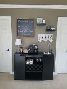 Master Bedroom Coffee and Wine Bar Bedroom Bar, Master Bedroom Makeover, Bedroom Decor, Master Bedrooms, Bedroom Ideas, Johnny Cash, Coffee Wine, Coffe Bar, Bar Areas