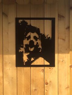 Immortalize your favorite pet in in CNC Plasma Cut steel portrait. Approximate size is 18X20, size will vary on lay out of your pic.  Send me