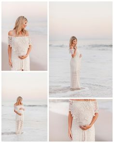 Beach Maternity Photography by Miranda North