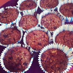 Healthier muffins :) (in danish) - Chocolate and banana protein muffins