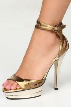 #Fable Sandals In Bronze