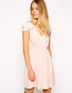 Image 1 ofASOS Wrap Front Mini Dress