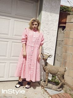 Pretty in pink: Chloe Moretz wows in a quirky shoot forthe June issue of British InStyle, as she speaks out on dating in the public eye and her social media spats