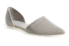 50 Walkable Spring Flats You (& Your Feet) Will LOVE #refinery29  http://www.refinery29.com/walkable-spring-flats#slide-19  Perforated leather gives Vince's D'Orsay a sporty vibe.