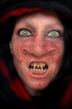 Prosthetic alien makeup by Rhonda Causton(Reel Twisted FX)