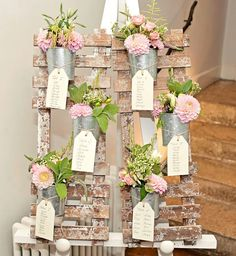 Unique way to display table numbers and names.