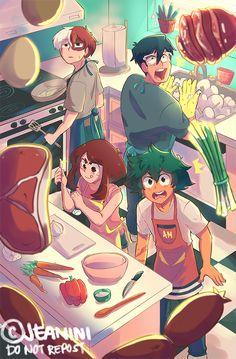 Characters: Todoroki Shouto, Uraraka Ochako, Midoriya Izuku, Tenya Iida