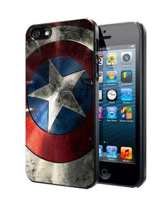 Captain America Logo Samsung Galaxy S3 S4 S5 Note 3 Case, Iphone 4 4S 5 5S 5C Case, Ipod Touch 4 5 Case