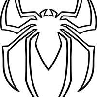 Desenho de Símbolo do Homem Aranha para colorir