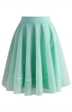Turely Tulle A-line Skirt in Mint - Retro, Indie and Unique Fashion