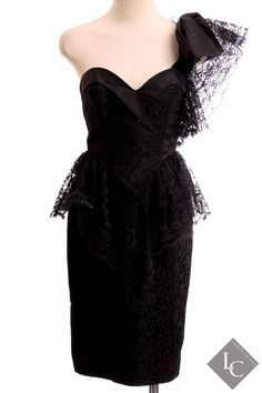 Contempo women's vintage black lace cocktail by LondonCouture, $90.00