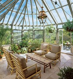 my dream house will have a similar conservatory ...with a hammock in it!  #home #decor