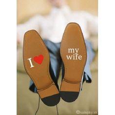 Nálepky na svadobné topánky - I love my wife fc8d4a6eef4