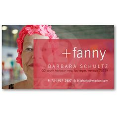 Fanny's Face [pink] Business Cards