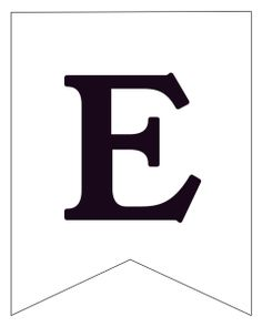 Free Printable Black and White Banner Letter E. Make a custom banner for a birthday party, baby shower, wedding, or party. checklist printable free Free Printable Black and White Banner Letters - Paper Trail Design Free Printable Banner Letters, Happy Birthday Printable, Cookbook Template, Eid Cards, Ramadan Crafts, Floral Banners, Paper Trail, Custom Banners, Block Lettering
