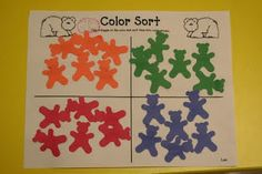 brown bear color sort and other related activities