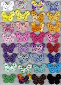 2 FREE patterns for crochet butterfly