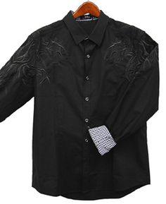 Toku Clothing Embroidered Sleeve Shirt