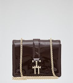 Dominique Bordeaux Mini Cross-body Bag - REISS
