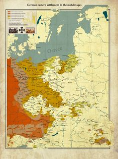 German eastern settlement in the middle ages