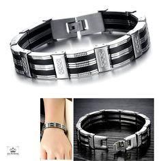 bdc469798960 Bracelet Homme Métal Look Notre Gourmette Homme s offre une Look Métal, un  des Must Clic-Tendance de la Collection Bracelet au Masculin, son Style  actuel et ...