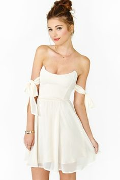 Kiss Me Dress in Ivory by #ForLove