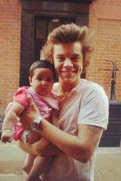 Harry Styles Holding Baby 2