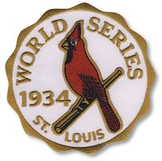 1934 St. Louis Cardinals World Series MLB Baseball Patch Cooperstown Collection
