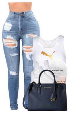 """""""Untitled #1197"""" by missglamfashionz ❤ liked on Polyvore featuring Puma, Incase, Michael Kors, MICHAEL Michael Kors and Dogeared"""