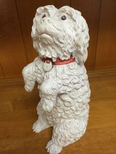A RARE Majolica Humidor / Tobacco Jar  by Wilhelm Schiller. Figural Form of a White Dog. 19th century AUSTRIAN | eBay