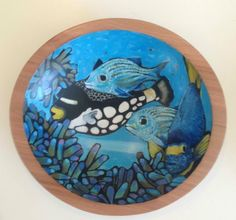 Painted wood bowls by nancyschaff@aol.com Sold