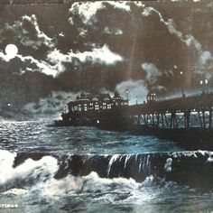 Hastings pier at night