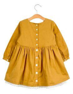 Maud dress - mustard - Petito Blouse, Mustard, Long Sleeve, Sleeves, Sweaters, Kids, Clothes, Dresses, Women