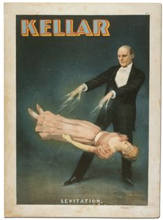 """Harry Kellar (1849–1922)Kellar was the predecessor of Harry Houdini and the successor of Robert Heller. He was often referred to as the """"Dean of American Magicians"""" and performed extensively on five continents. One of his most memorable stage illusions was advertised as the """"Levitation of Princess Karnack"""".  Look! Read!! Wonder!!! Two Nights and Saturday Matinee Jan. 4th & 5th 1889 at Powers' Grand Opera House, The World's Master Magician, The Wonderful KELLAR. Modern Miracles!"""